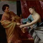 Guido Reni (Italian, 1575‒1642), Joseph and Potiphar's Wife, about c.1630, The J. Paul Getty Museum, Los Angeles.140x140