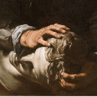 José de Ribera, The Sense of Touch, 1632 (detail), Oil on Canvas. Museo del Prado. crop 140x140