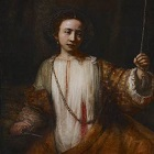 Rembrandt, Lucretia, 1666, oil on canvas, Minneapolis Institute of Art 140x140