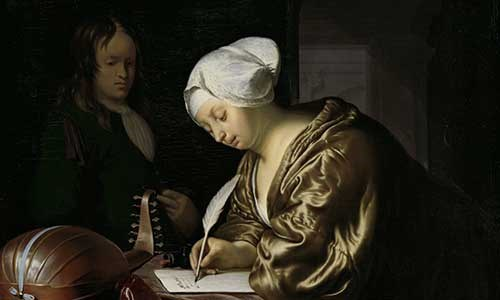 The Letter Writer, Frans van Mieris (I), 1680. Copyright Rijksmuseum.